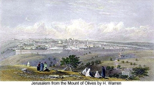 JerusalemFromMountOfOlives - H Warren