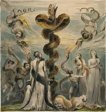 Moses Erecting the Brazen Serpent by William Blake